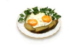 jajka smażący Obraz Royalty Free