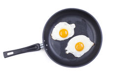 jajka smażący Zdjęcia Royalty Free