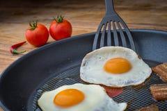jajka smażący Obraz Stock