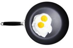 jajka smażyli Obrazy Stock