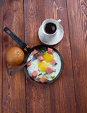 jajka smażyli kiełbasy Obraz Royalty Free