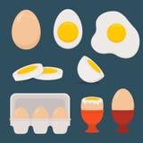 Jajka ustawiają odosobnionego na zmroku - błękitny tło Obrazy Royalty Free