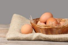 Jajka w koszu obrazy royalty free