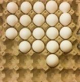 jajka w surowym zdjęcia royalty free