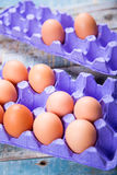 Jajka w zbiorniku Fotografia Stock
