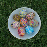 Jajka, wielkanoc, wzór, Ukraina Zdjęcia Stock