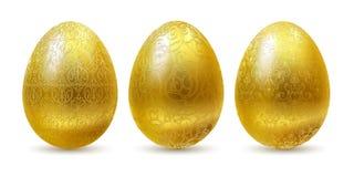jajka złoci royalty ilustracja
