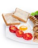 Jajka z kiełbasami Fotografia Stock