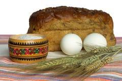 jajko chlebowa sól Fotografia Stock