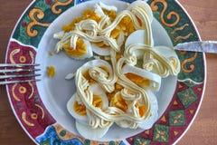 jajko gotowany talerz obrazy stock