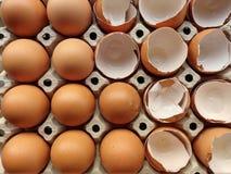Jajko i eggshell obraz stock