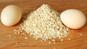 Jajko i oatmeal Fotografia Royalty Free