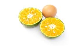 Jajko i pomarańcze Obraz Stock