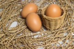 Jajko jest na stosie Obraz Stock