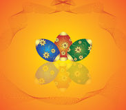 jajko karciani kwiaty ilustracja wektor