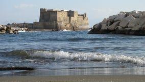 Jajko kasztel Naples, Włochy - Zdjęcia Royalty Free