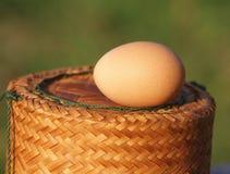 Jajko na pudełku Zdjęcie Stock