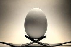 Jajko na rozwidlenia Zdjęcia Stock