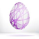 Jajko odizolowywający na białym tle. + EPS8 Zdjęcia Royalty Free