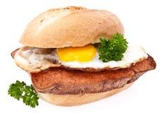 jajko smażąca bochenka mięsna rolka Zdjęcia Royalty Free