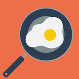 jajko smażący Fotografia Stock