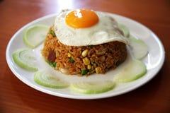 jajko smażący ryż zdjęcia royalty free