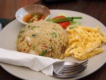 jajko smażący ryż Fotografia Royalty Free