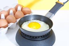 jajko smażył Zdjęcie Stock
