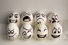 Jajko twarz Rozochocona śniadaniowa firma Fotografia dla twój projekta Fotografia Stock