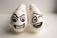 Jajko twarz Rozochocona śniadaniowa firma Fotografia dla twój projekta Zdjęcia Royalty Free