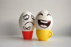 Jajko twarz Rozochocona śniadaniowa firma Fotografia dla twój projekta Obraz Stock