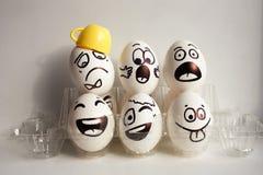 Jajko twarz Rozochocona śniadaniowa firma Fotografia dla twój projekta Fotografia Royalty Free