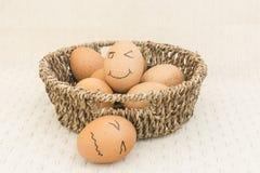 Jajko w brown koszu Fotografia Stock