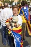 Jak bohater przy świętem państwowym Catalonia fotografia royalty free