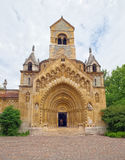 Jak Chapel in the Vajdahunyad Castle of Budapest, Hungary stock photos