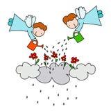 jak deszcz ilustracji