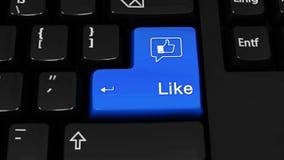 260 Jak Facebook obracania ruch Na Komputerowej klawiatury guziku royalty ilustracja