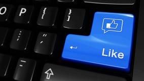 259 Jak Facebook Poruszający ruch Na Komputerowej klawiatury guziku royalty ilustracja