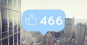 Jak ikona ze wzrastającym liczbami 4k ilustracji