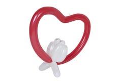 jak miłość kształtująca ptaka balonowy jeleń Fotografia Stock