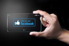 Jak my na Facebook ikonie zdjęcia stock