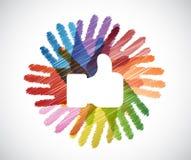 jak nadmierny różnorodność ręk okrąg ilustracja wektor