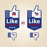 Jak republikanin lub demokrata dla prezydenckiego elekta Zdjęcia Royalty Free