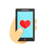 Jak smartphone pojęcie w ręka telefon Obraz Stock