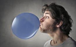 jakaś balonowy rozmiarem był błękitny puszka ilustracyjny wizerunku straty postanowienie ważącym Obrazy Stock