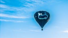 jakaś balonowy rozmiarem był błękitny puszka ilustracyjny wizerunku straty postanowienie ważącym Fotografia Stock