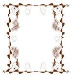 jakaś piękny brąz ramy struktury wizerunku obrazek royalty ilustracja