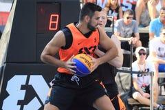 Jaka Hladnik - basquetebol 3x3 Imagens de Stock