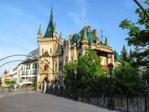 Jakab pałac Jakabov palac w Kosice - widok od mostu fotografia stock