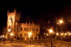 Jakab Palace. (slovak: Jakabov palac) in city Kosice, Slovakia. night photo Royalty Free Stock Images